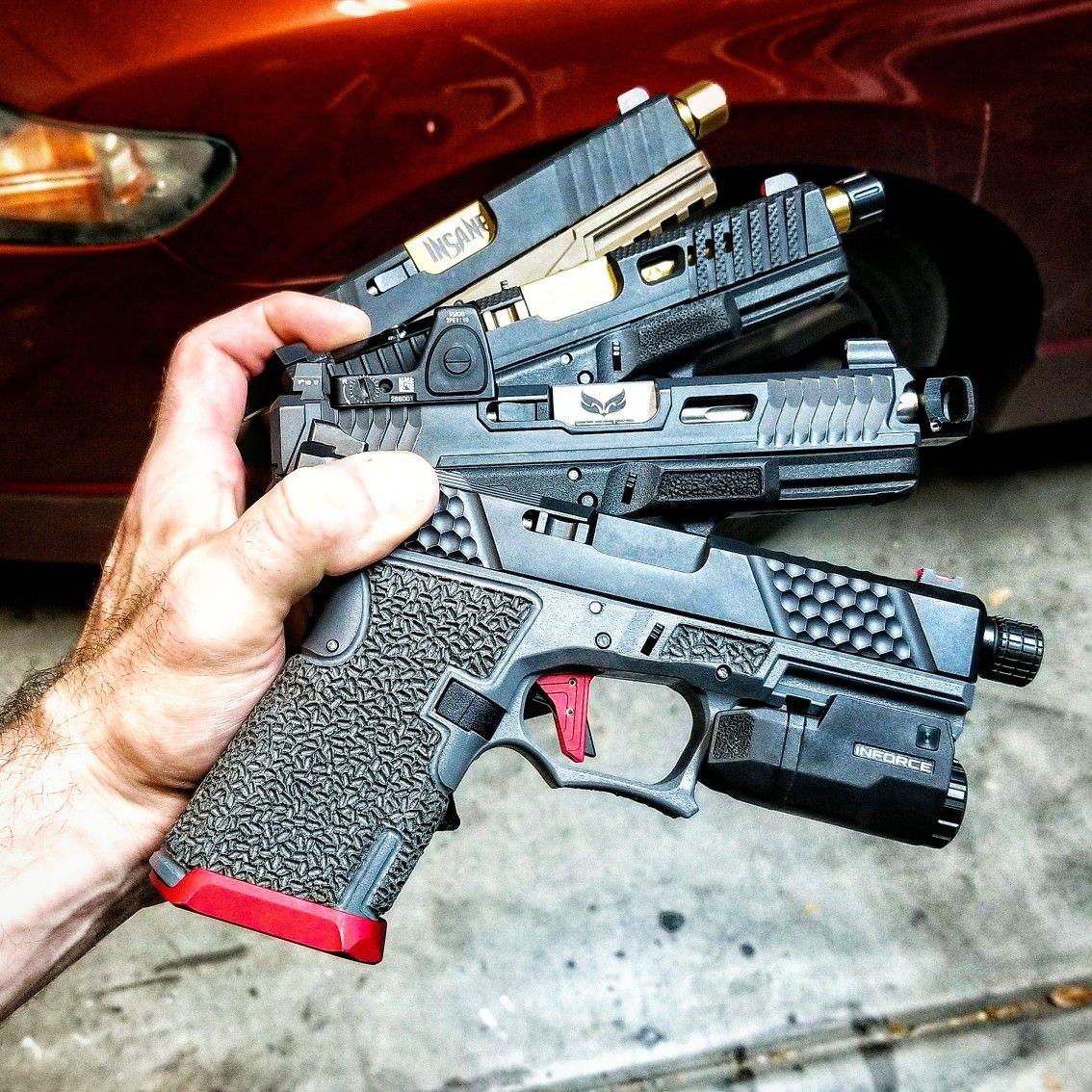Pin by TSKnives on Firearms: Glock | Custom glock 19, Custom