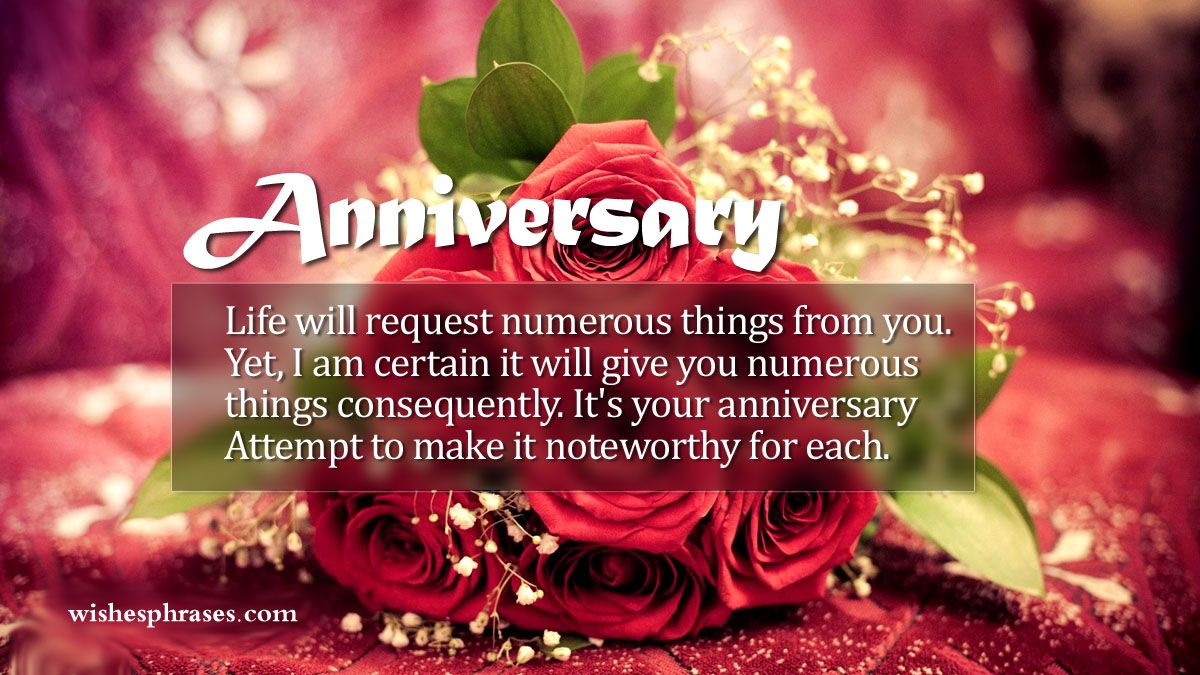 A special day came like Anniversary send your soulmate