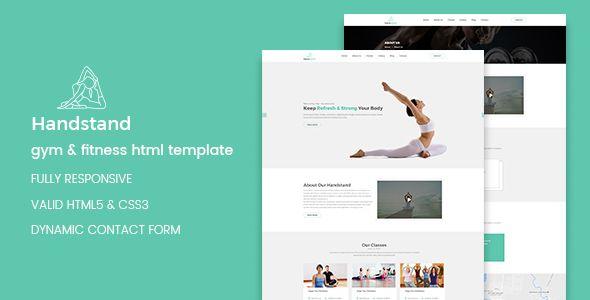 Handstand - Gym & Fitness HTML Template http://themeforu.com ...