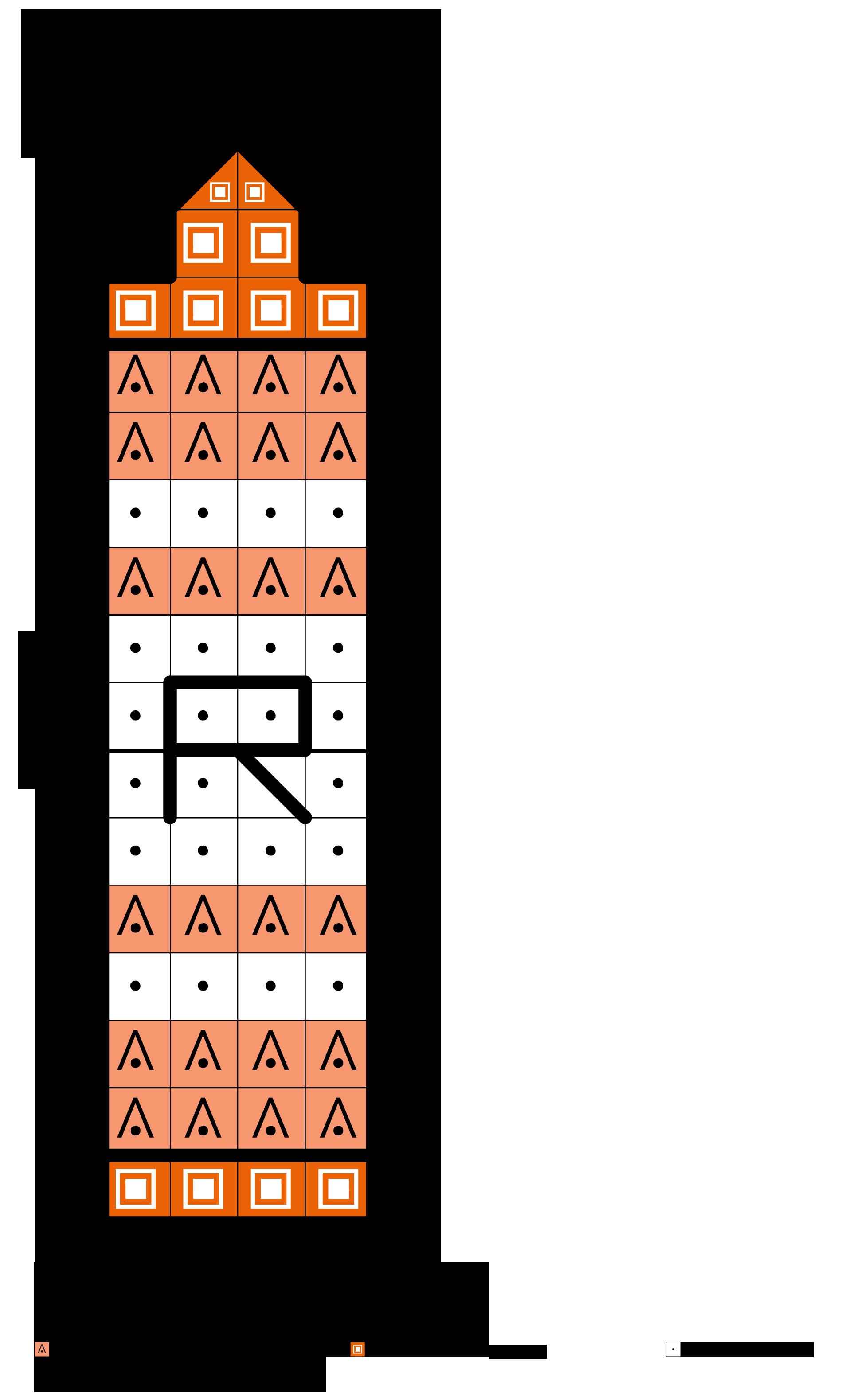 alfabeto dei pastelli a cera R