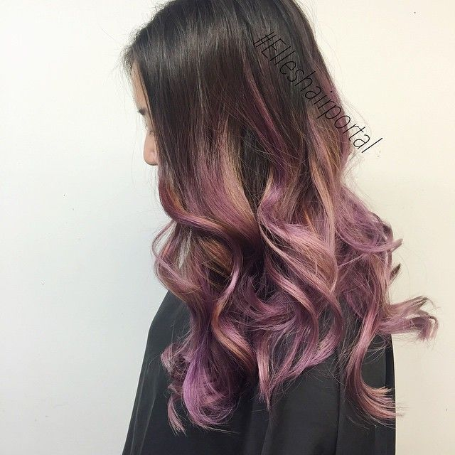 Why Not Blend The Top Two Hair Colors Of The Season Lavender Ombre
