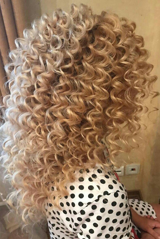Medium Blonde Highlights Hair Color Spiral Perm Happy Curl Avedaibw Long Hair Perm Curls For Long Hair Curled Hairstyles For Medium Hair