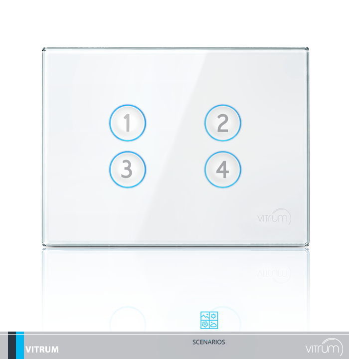 Vitrum - Scenarios. Simplified home automation, with a simply inimitable design. Vitrum is the secret of luxury, composed of only two elements: the electronics and aesthetic. Site: bit.ly/VitrumH Facebook: www.facebook.com/... #Vitrum #Luxury #HomeAutomation #Swithces #Technology #Style #italianstyle #italiandesign #design #electric #electronics #technology #ibiza #lasboas #stonecollection #glasscollection #techcollection