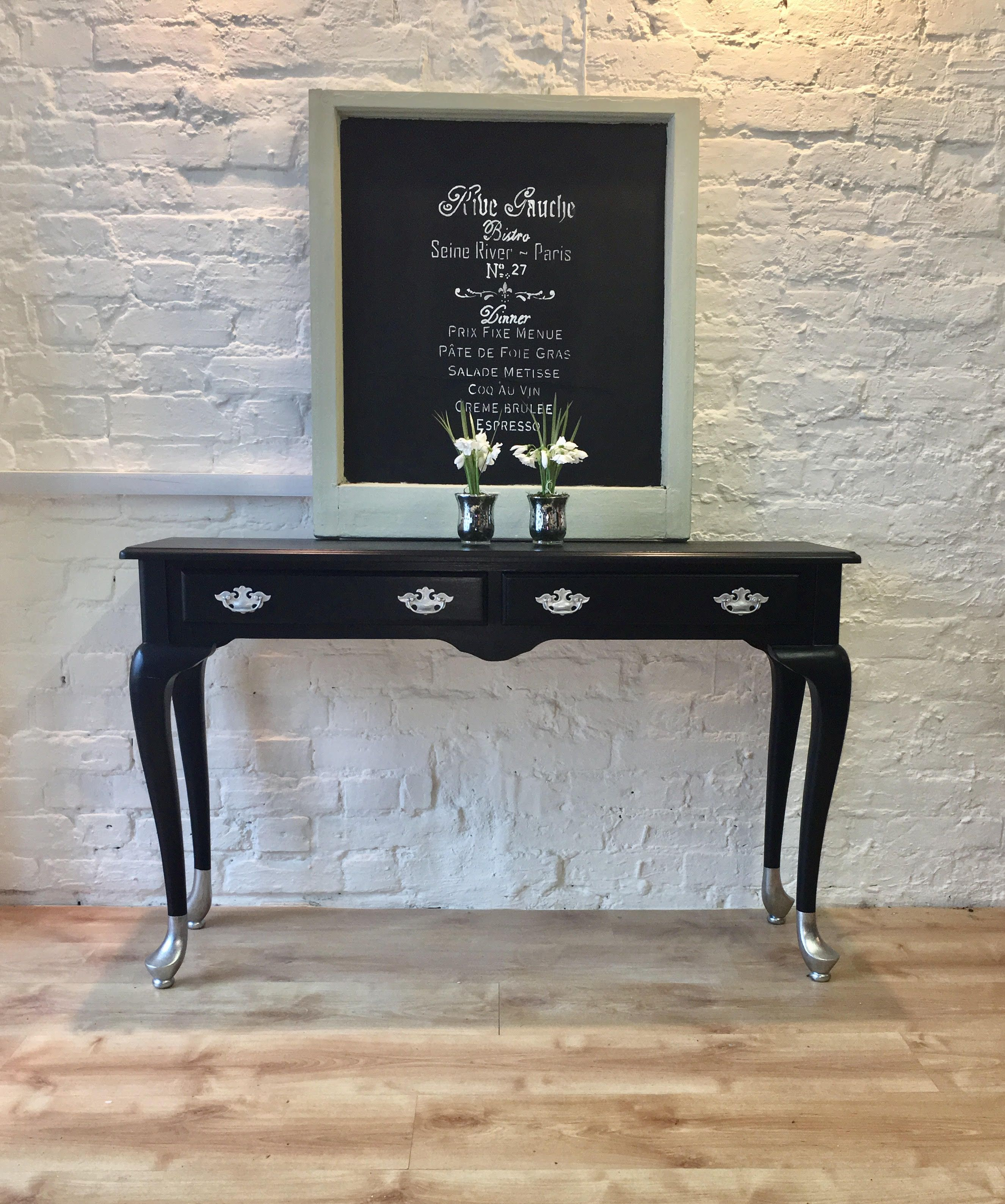 Glitzy Chalk Painted Hall Table Unusually Painted Console Hall Sofa Table Painted In Autentico Versante E Console Table Decorating Hall Table Painted Table