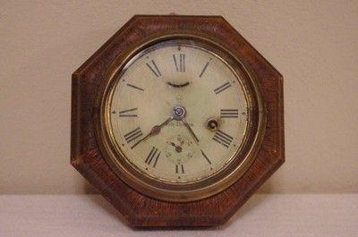 "Antique Seth Thomas ""Octagon Lever"" 8-Day Wall Clock Circa 1900!! | #439126673"