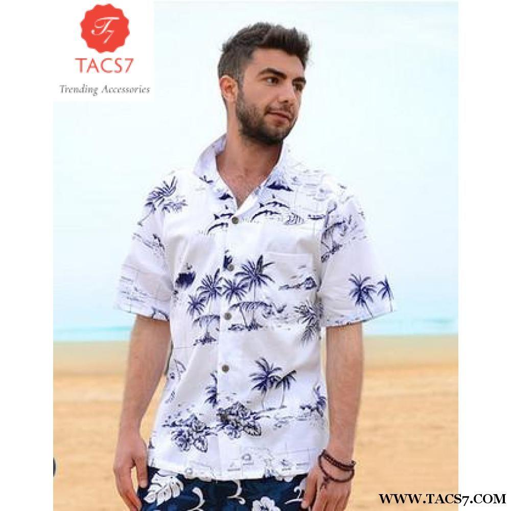 d0e2d0c8c Summer Style Men Shirt Cotton Hawaiian Beach Large Size Short-Sleeved  Clothing Fancy Dress Shirts