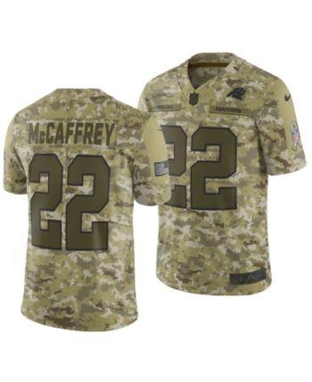 meet 398d3 61cdc Nike Men's Christian McCaffrey Carolina Panthers Salute To ...