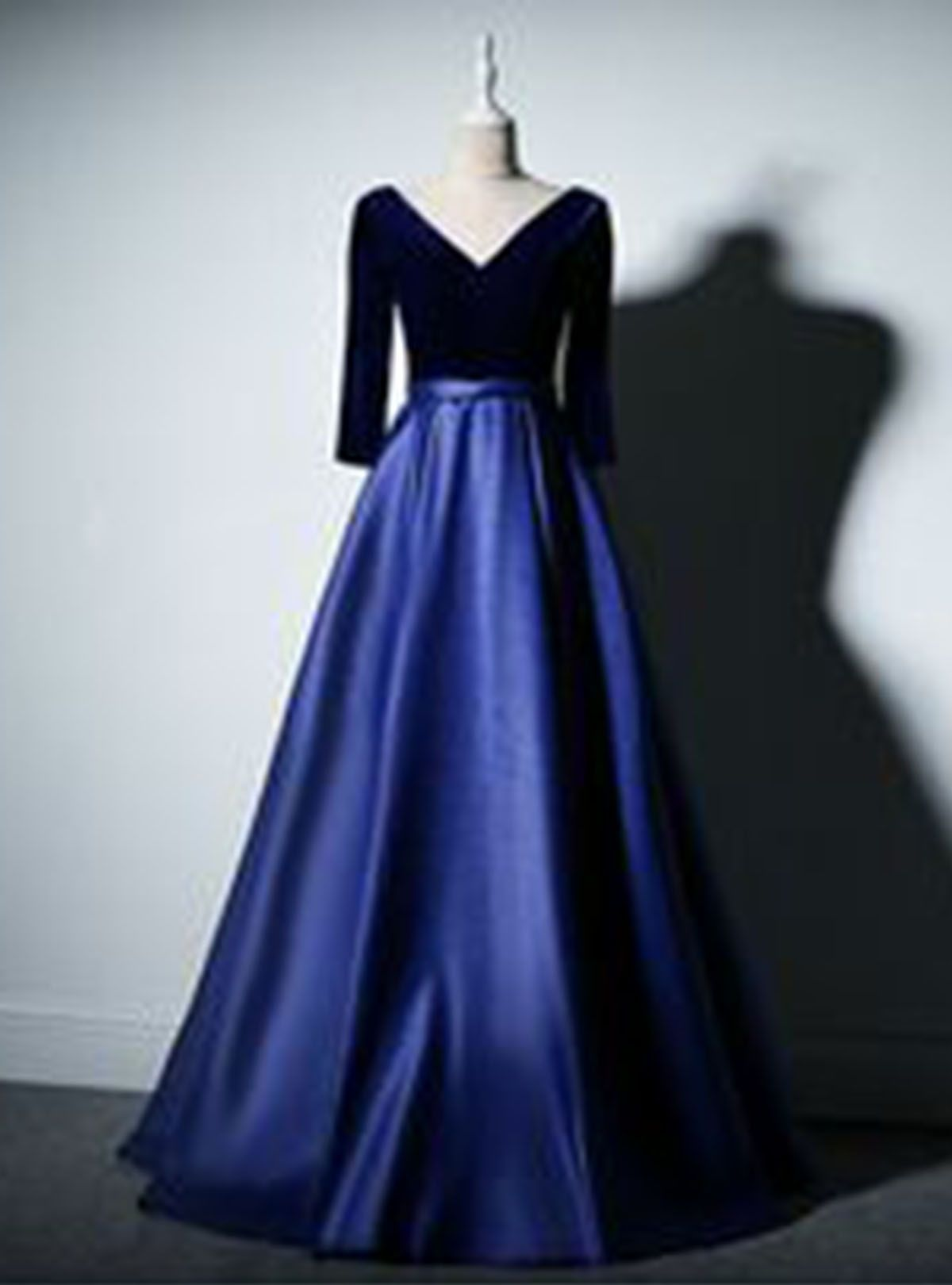 69d2845f00e Navy blue satin prom dress long evening gown  promdress  promdresses  prom   gowns