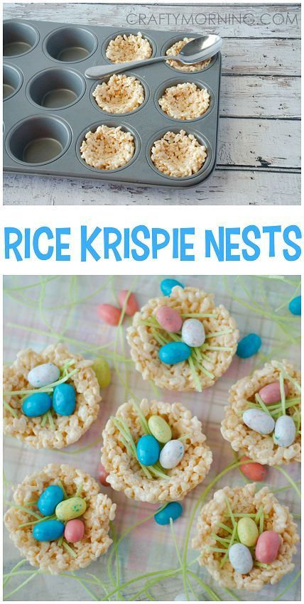 Rice Krispie Nests Such A Cute Easter Treat Dessert Idea For The Kids