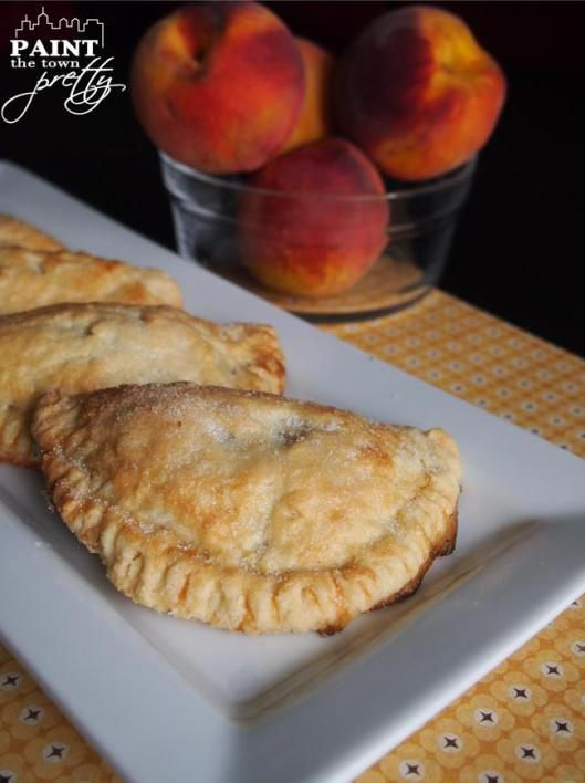 Mini Peach Pies with Flaky Pie Crust | Paint The Town Pretty
