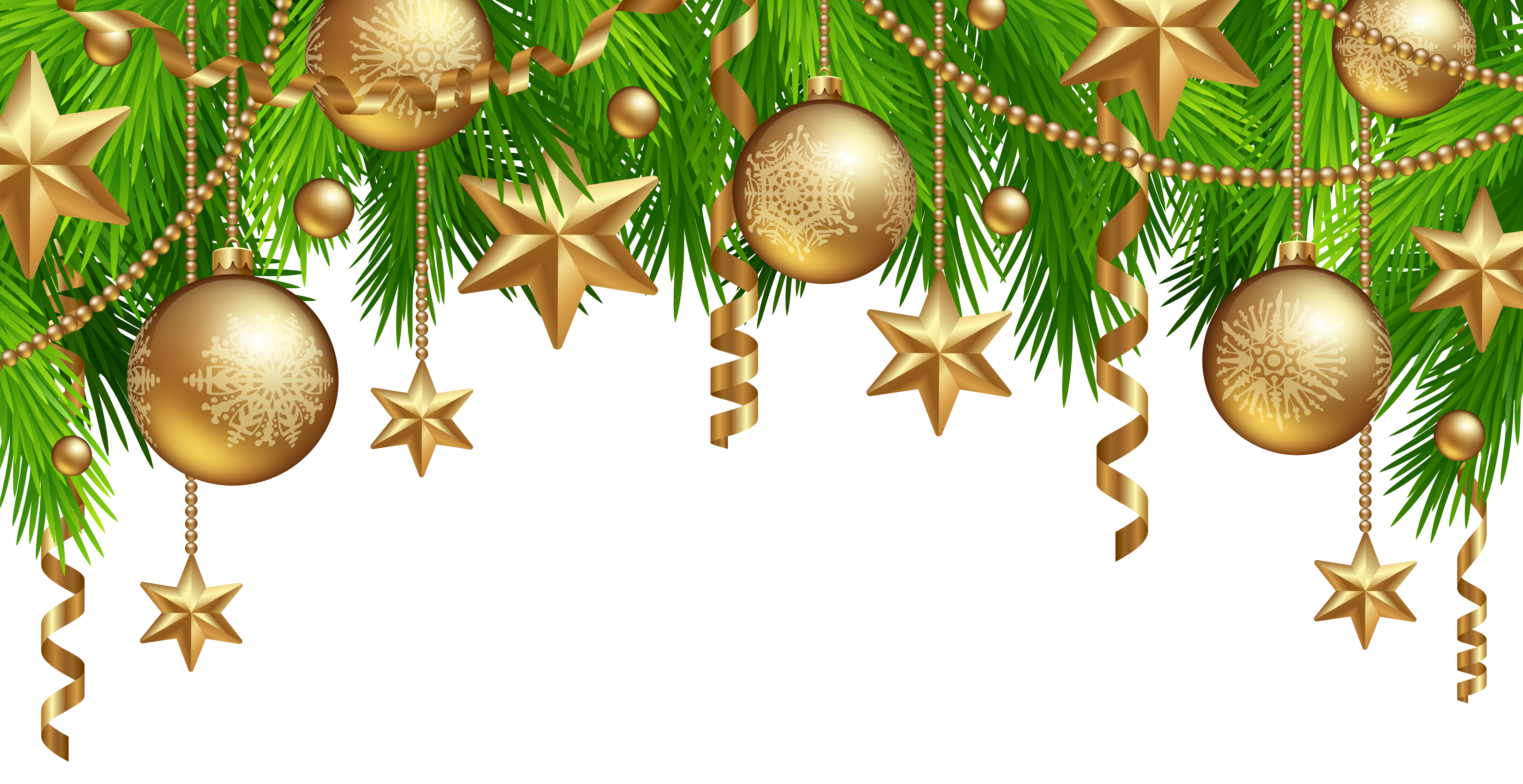 Christmas border decor png clipart image marocco for X mas decorations png