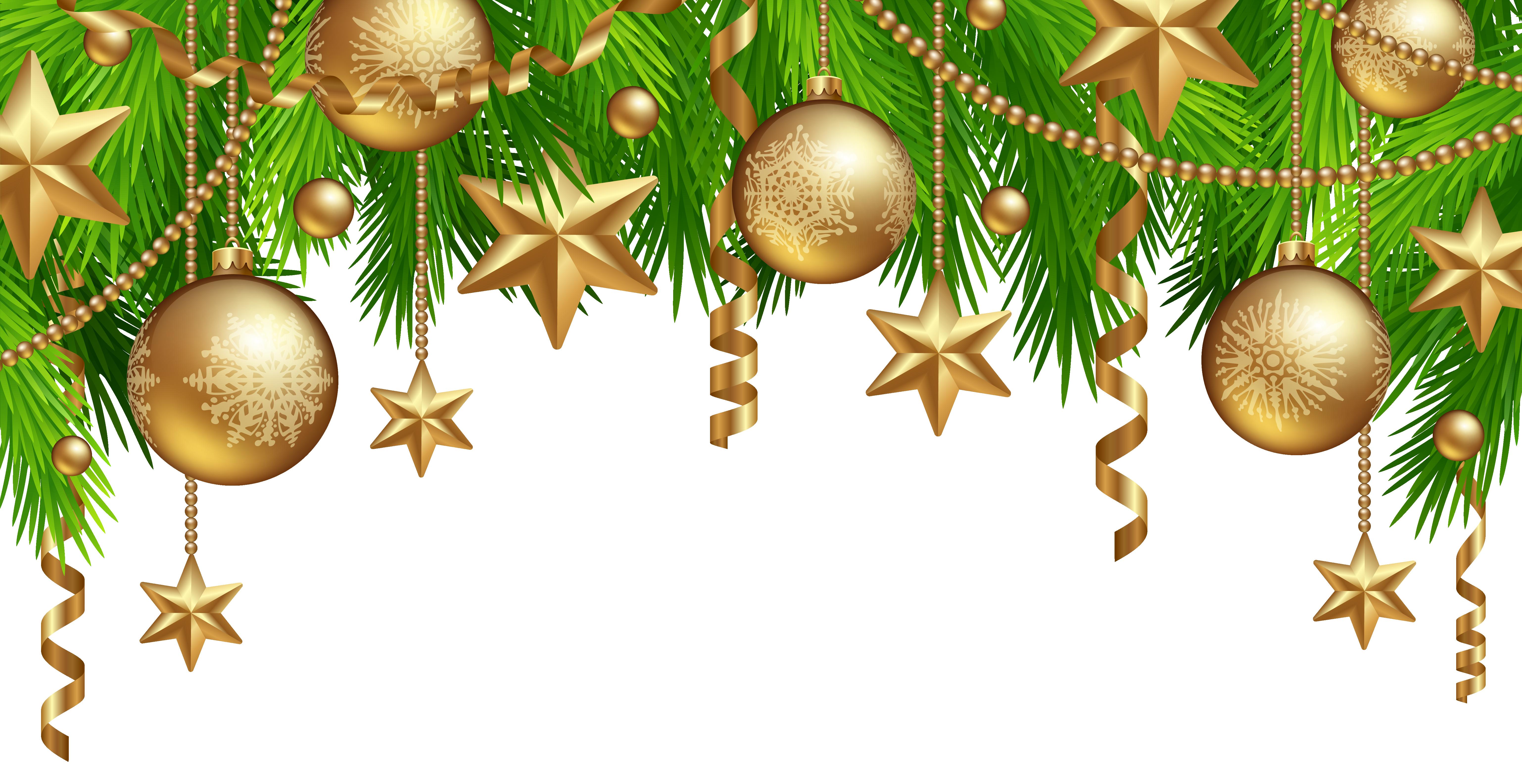 Christmas Border Decor PNG Clipart Image Boże narodzenie