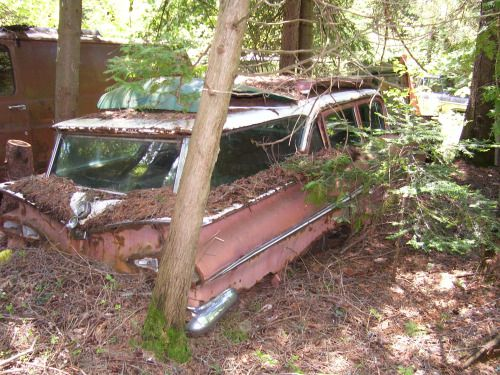 1959 Chevy wagon ain't hauling groceries no more.
