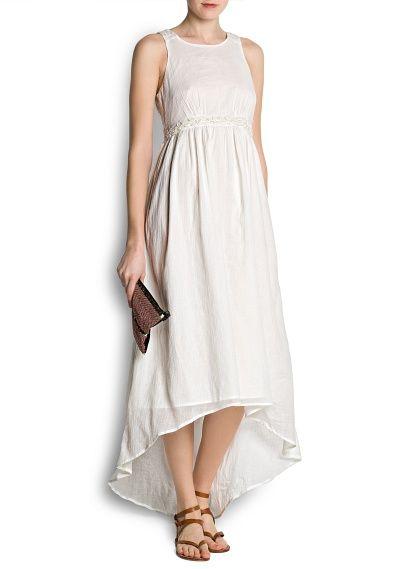 White dress perfect for beach wedding.   Vestit blanc  Mango 2013. Vestit nuvia