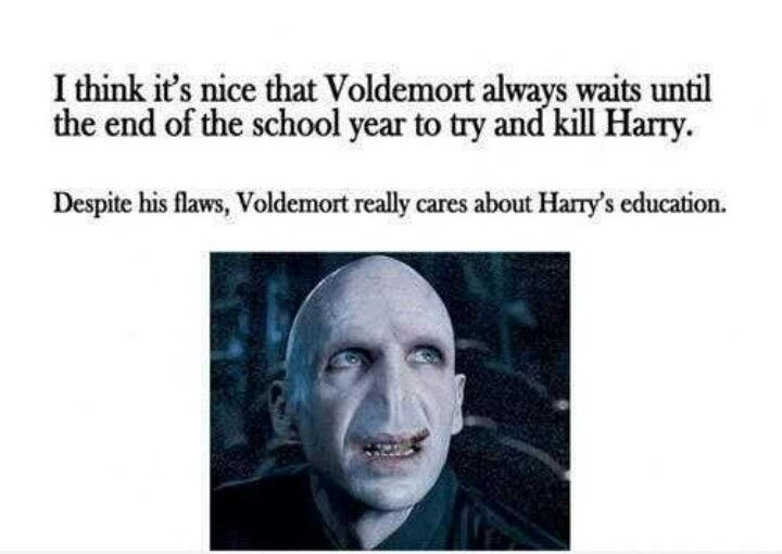 Education is important, even Voldemort knows it!