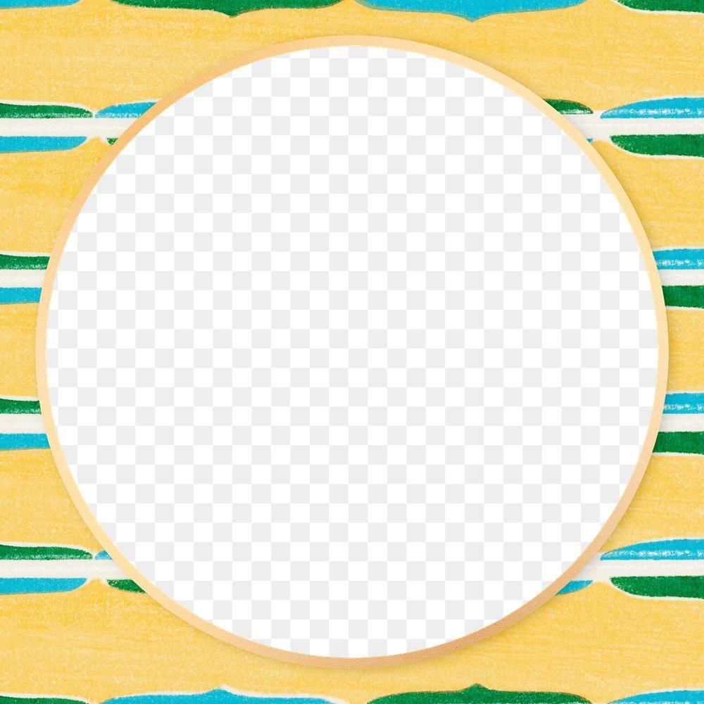 Download Premium Png Of Japanese Pattern Circle Frame Png Yellow Vintage Japanese Patterns Circle Frames Vintage Frames