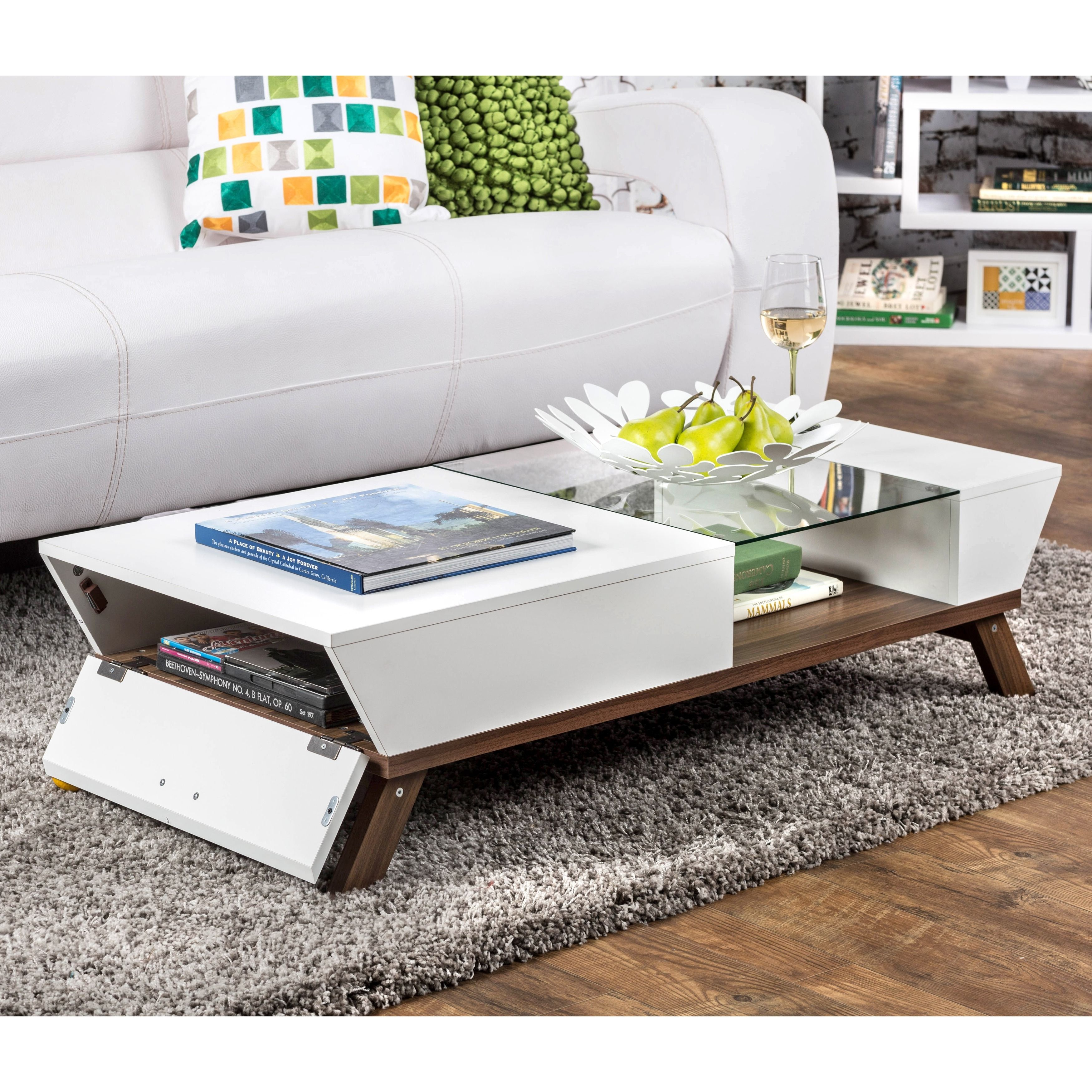 Furniture Of America Kress Gl Insert Coffee Table Ping The Best
