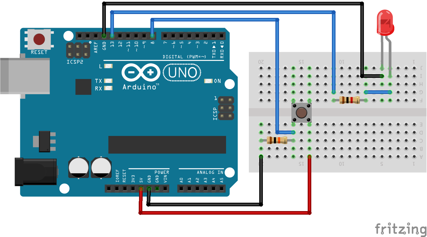 Learn How To Interface The Push Button Input Arduino Board About Circuit Boards With And Code