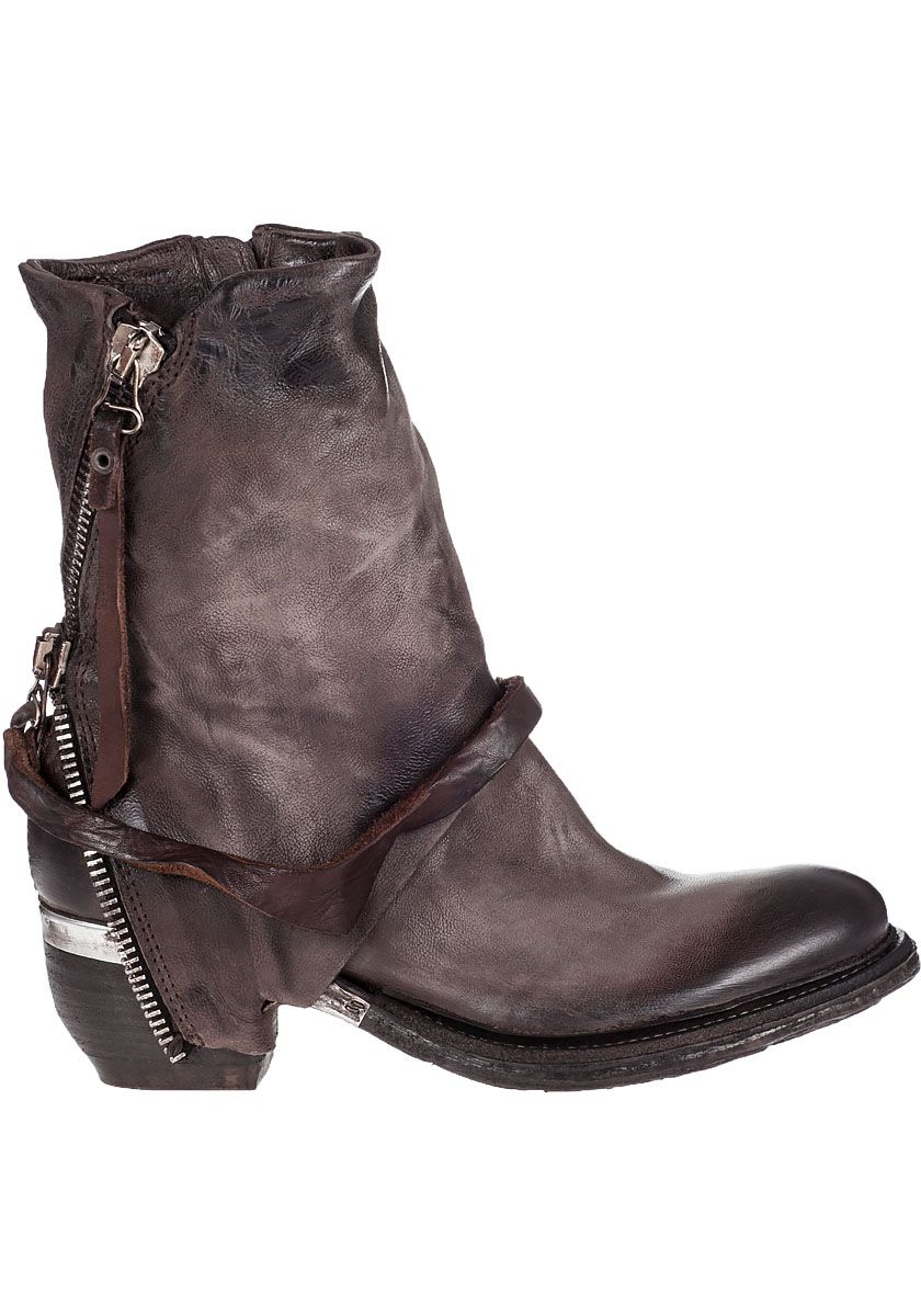 A.S. 98 Cayden Boot Rock Grey Leather Jildor Shoes, Since 1949