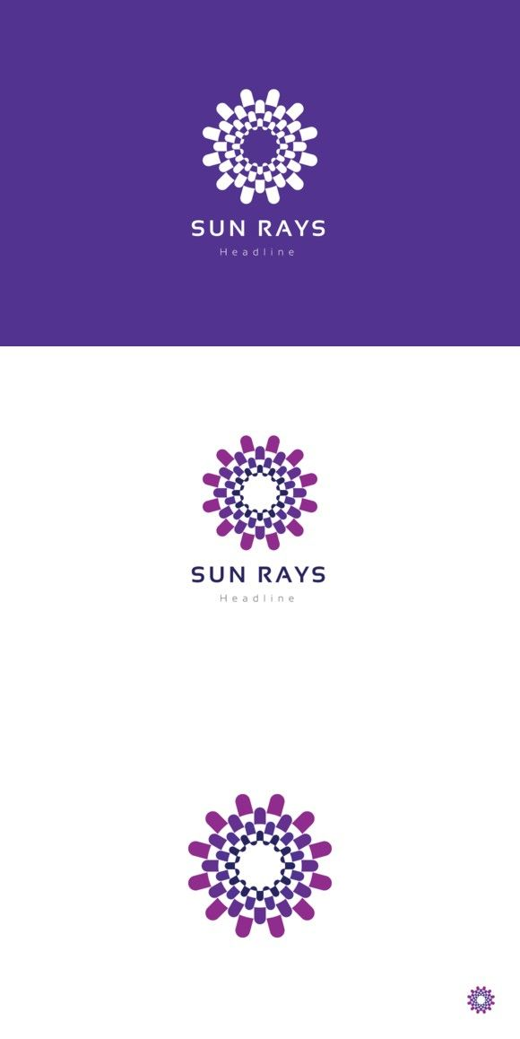 Sun rays logo | Logo templates, Logos and Template