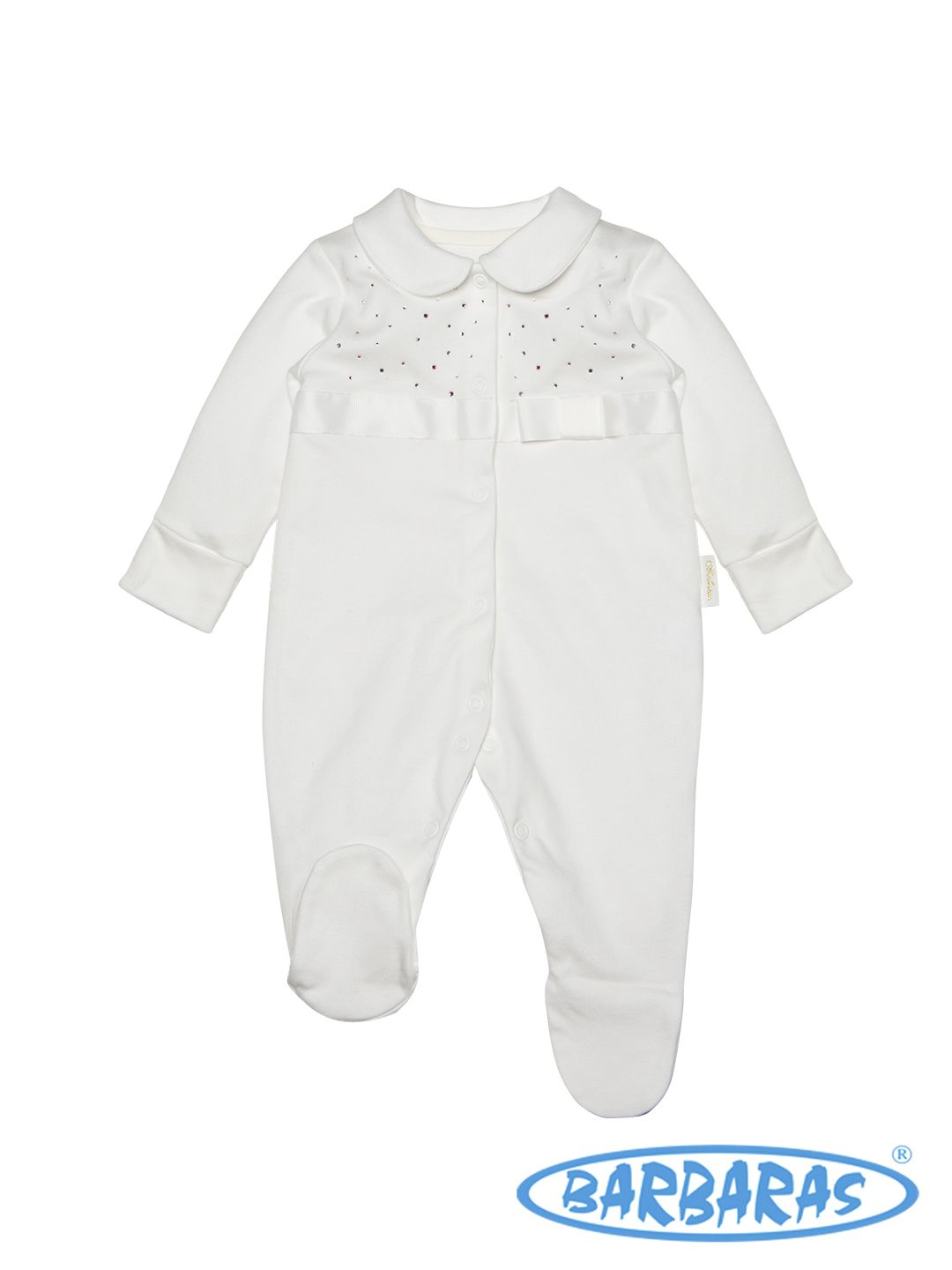 """Sleepsuit   100% cotton Certificate:  """"Safe for Baby"""", """"Eco 5"""" www.barbaras.pl"""
