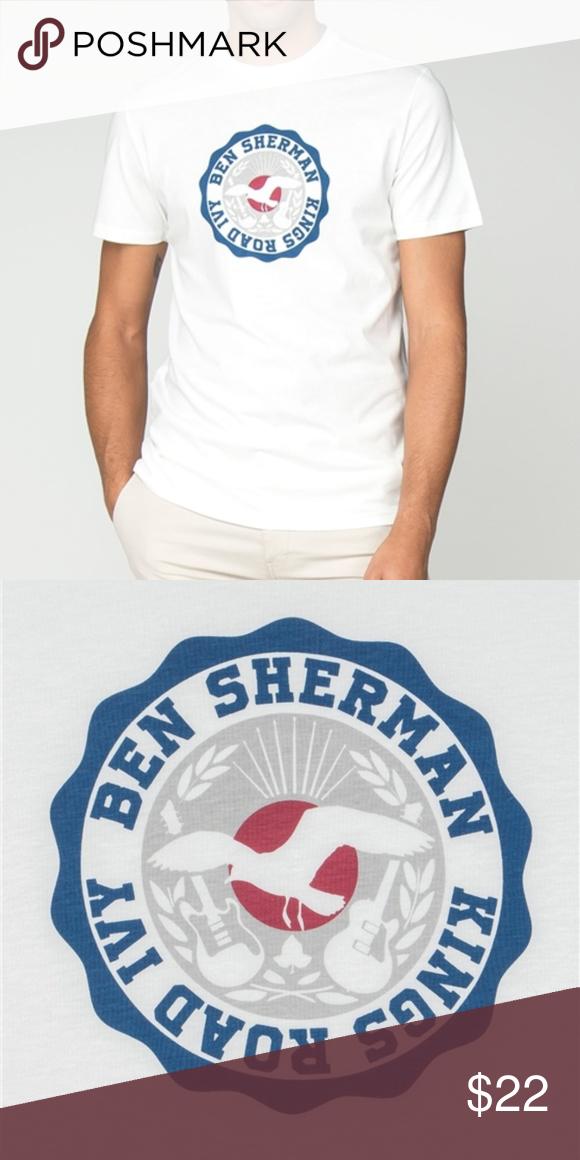 Ben T Shirt White Medium Nwt Shirts Shirts White T Shirt