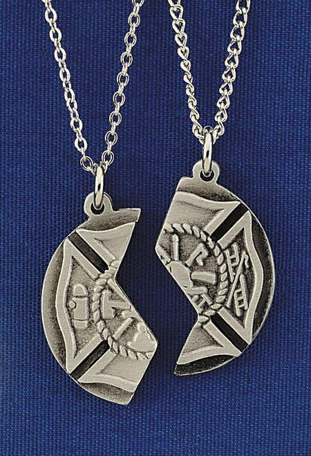 Fire dept mizpah pendant one of these is worn by the firefighter mizpah pendant one of these is worn by the firefighter and one by someone he or she loves i used a pendant just like this in one of my firefighter books aloadofball Choice Image