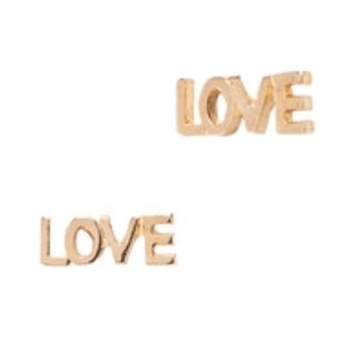 Zad Love Earrings Gold Stud Post Lulus Surf Shop Boutique Jewelry | eBay