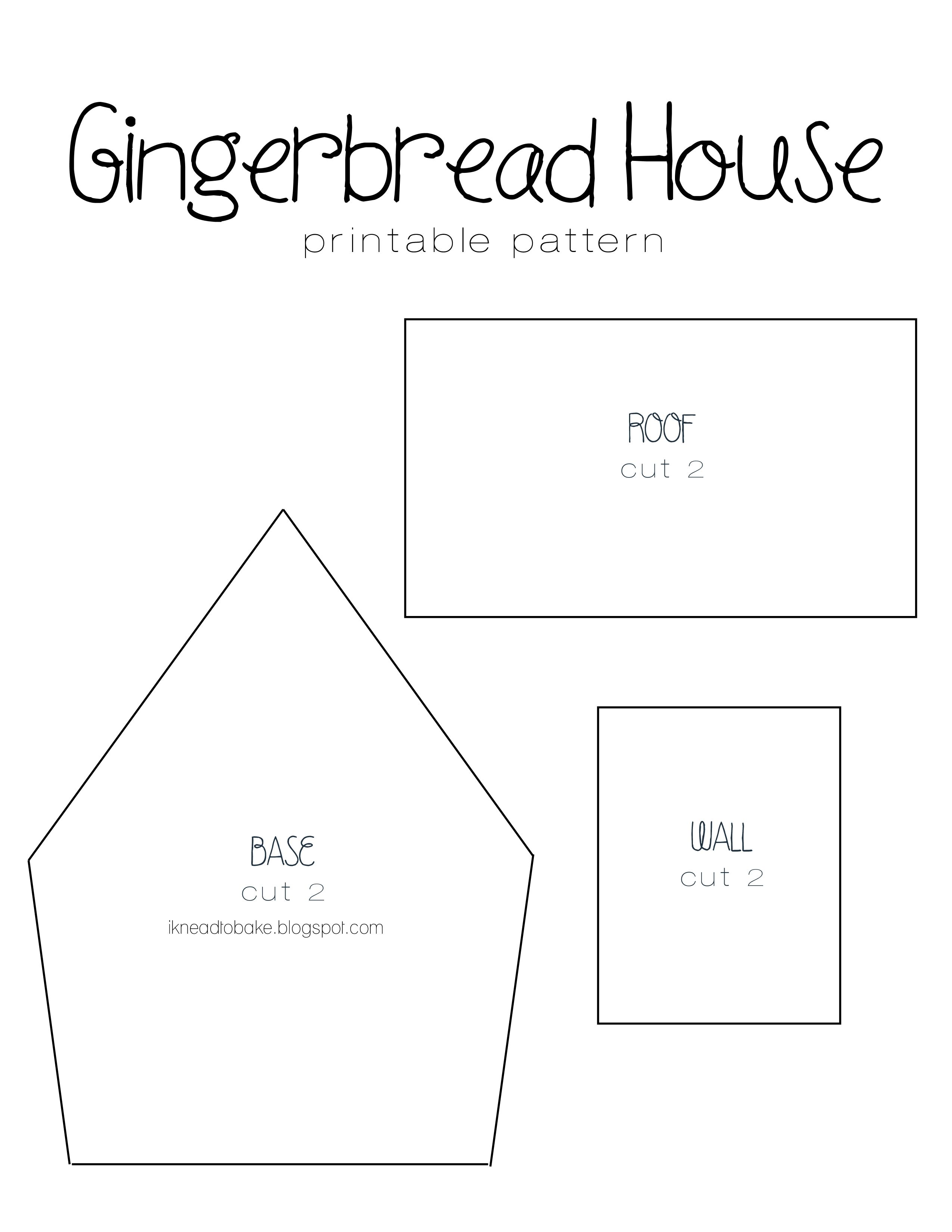 Gingerbread house template Gingerbread house template