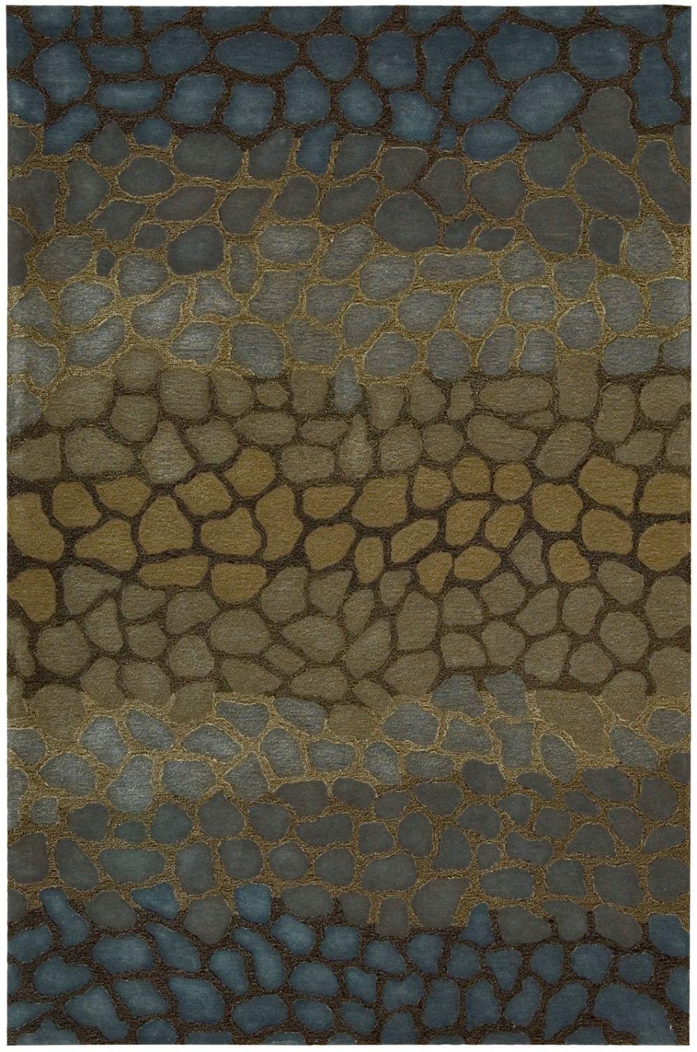 Contemporary Rectangle Multi Color Nourison Dimensions Collection