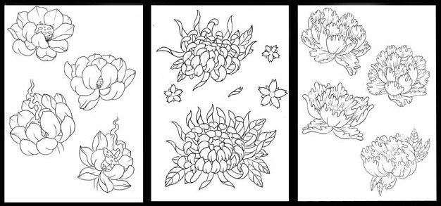 Matt Hunt Japanese flowers Sketch Book. — Modern Body Art | To Try ...