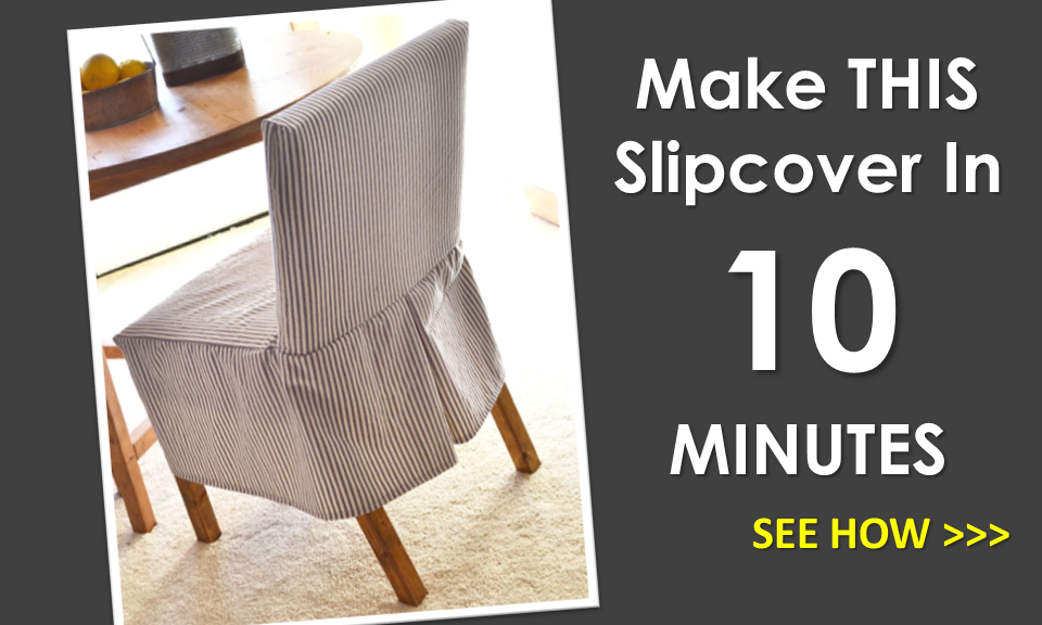 Ana White Build A Easiest Parson Chair Slipcovers Free