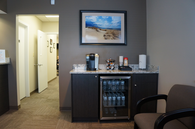 Dental Office Waiting room beverage center Office