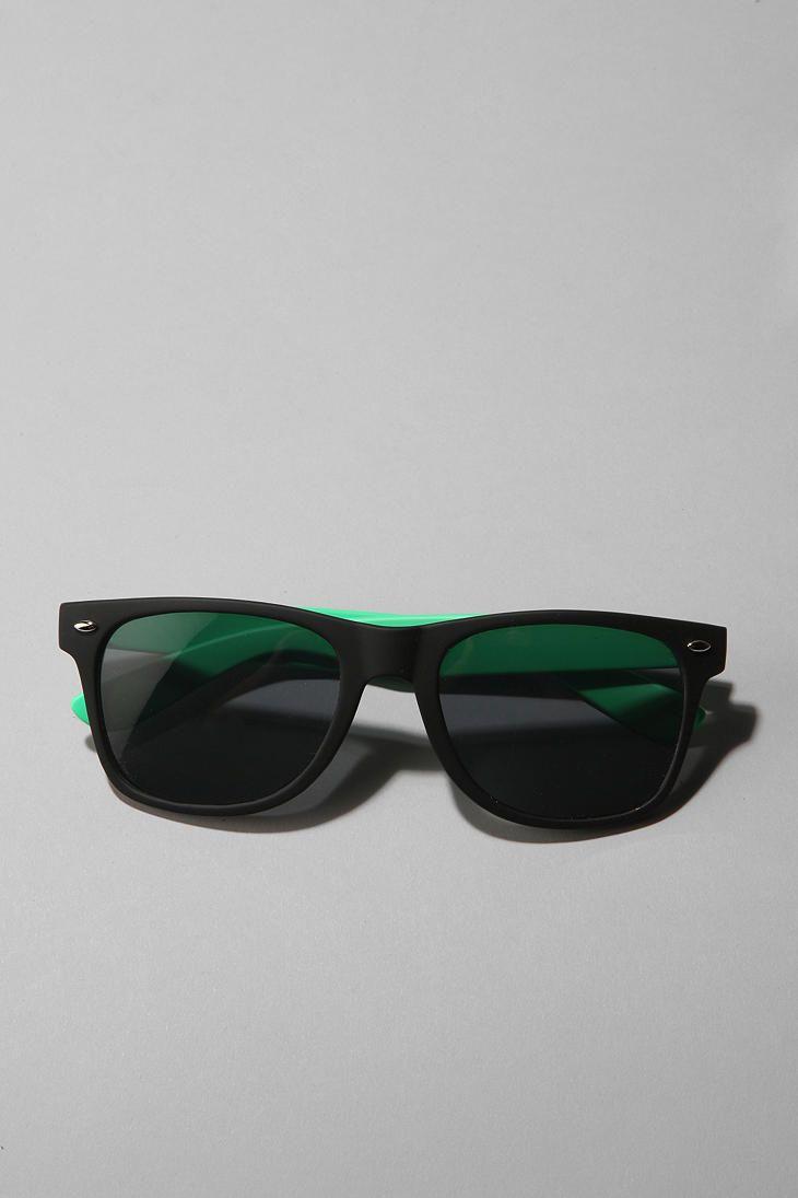 Men's UO Rubberized Sunglasses $14  …..more colors available.