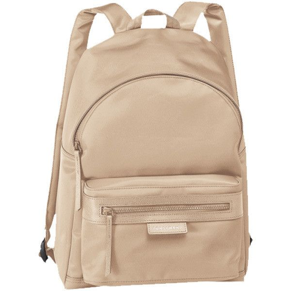 e1168bed87cd Longchamp Le Pliage Neo Backpack in Beige Monogramming Available ( 231) ❤  liked on Polyvore featuring bags