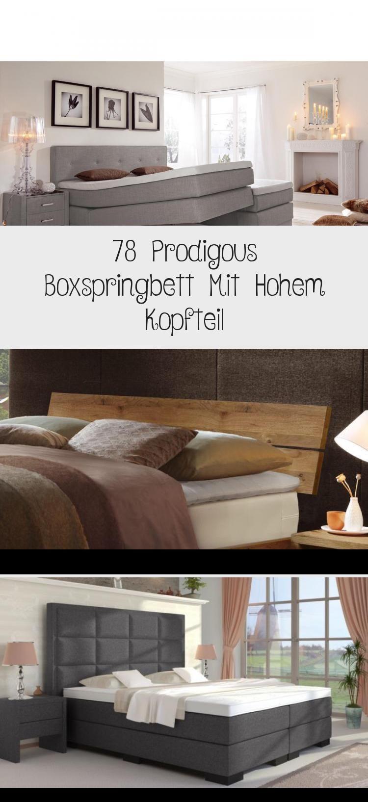 78 Prodigous Boxspringbett Mit Hohem Kopfteil