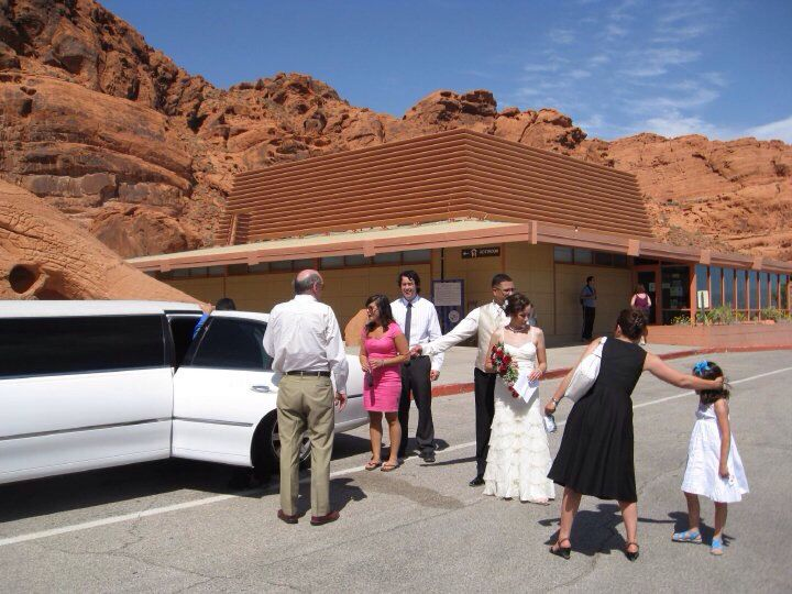 After we married-heading back to Vegas!