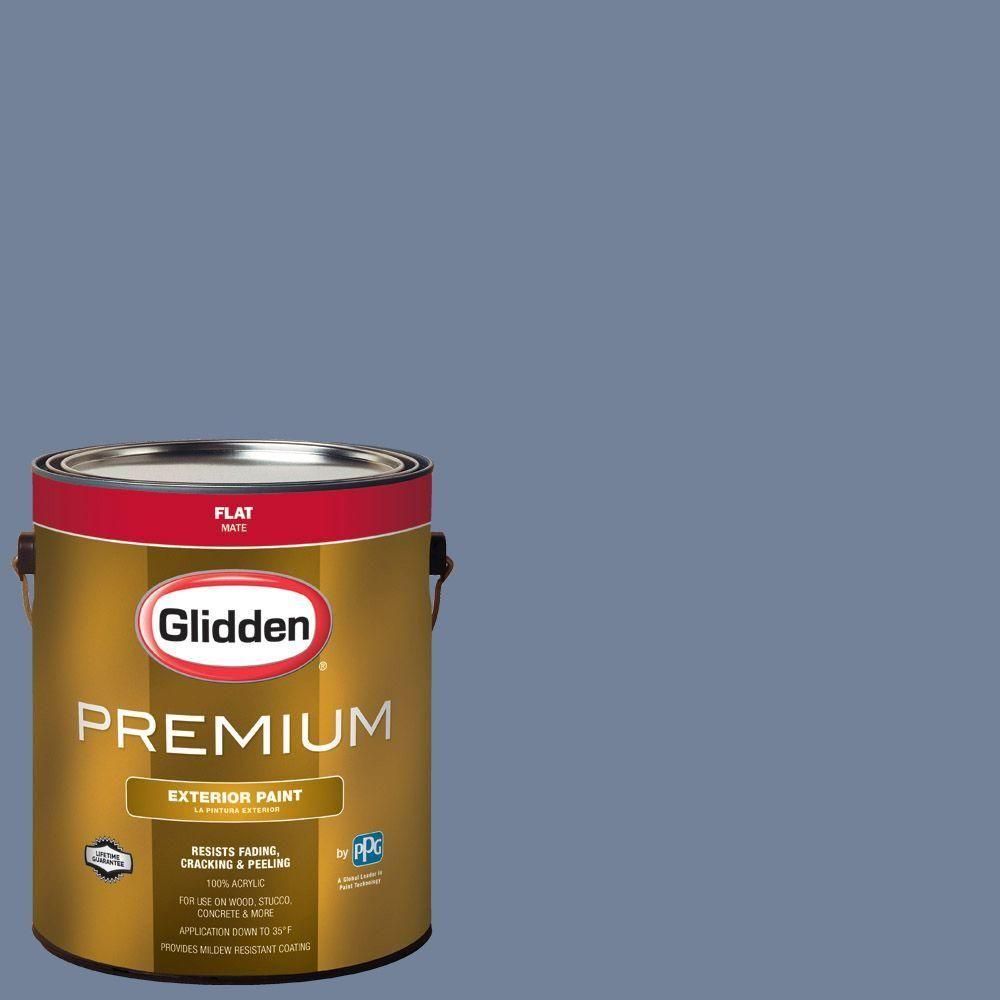 Glidden Premium 1-gal. #HDGV38 Deep Empire Blue Flat Latex Exterior Paint