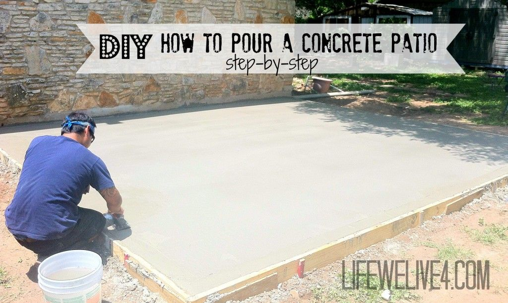 DIY How To Pour Your Own Concrete Patio , Step By Step. Donu0027t Forget To Put  Pvc Pipe In For Hiding Wires