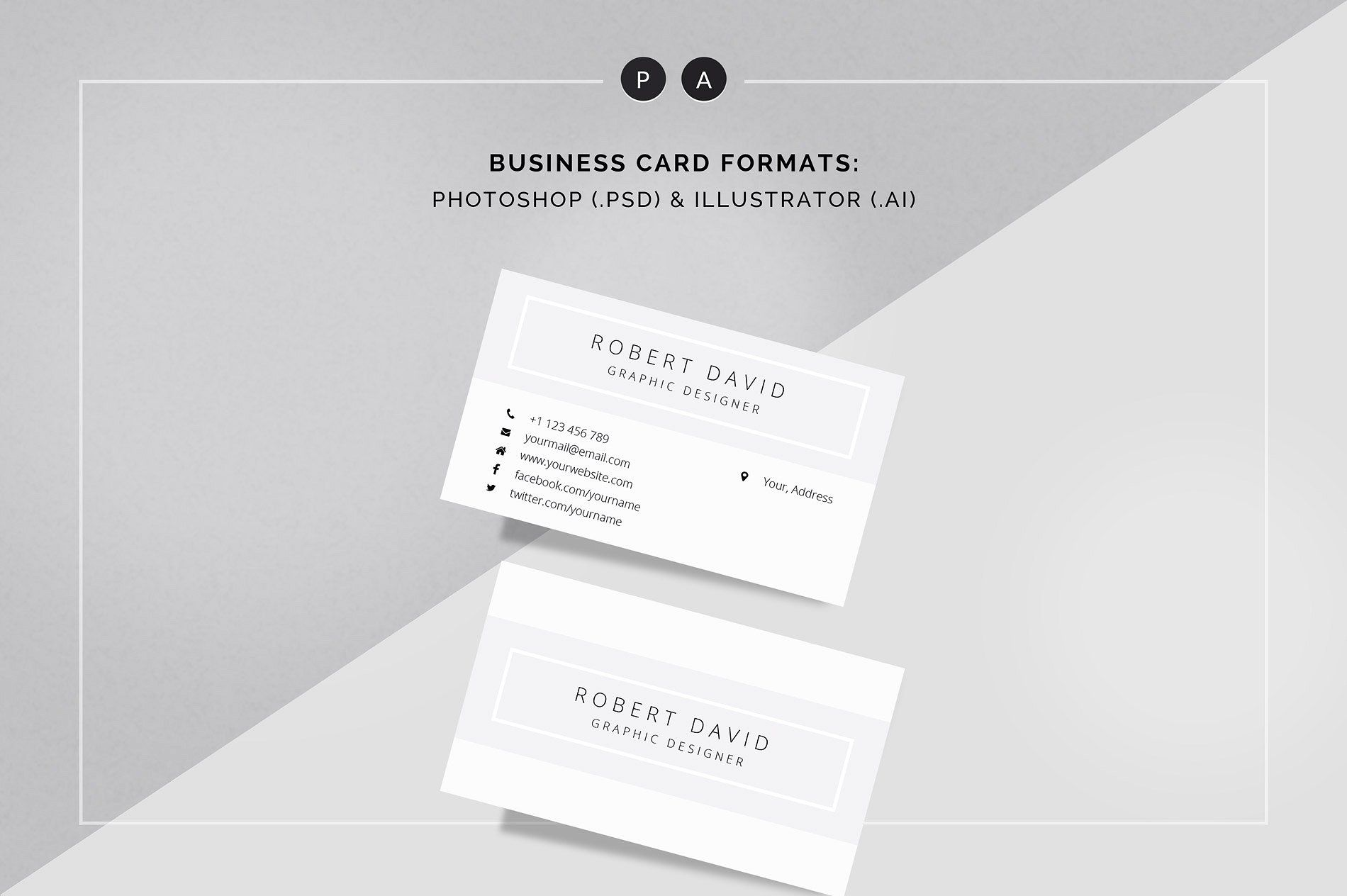 CV Business card psd