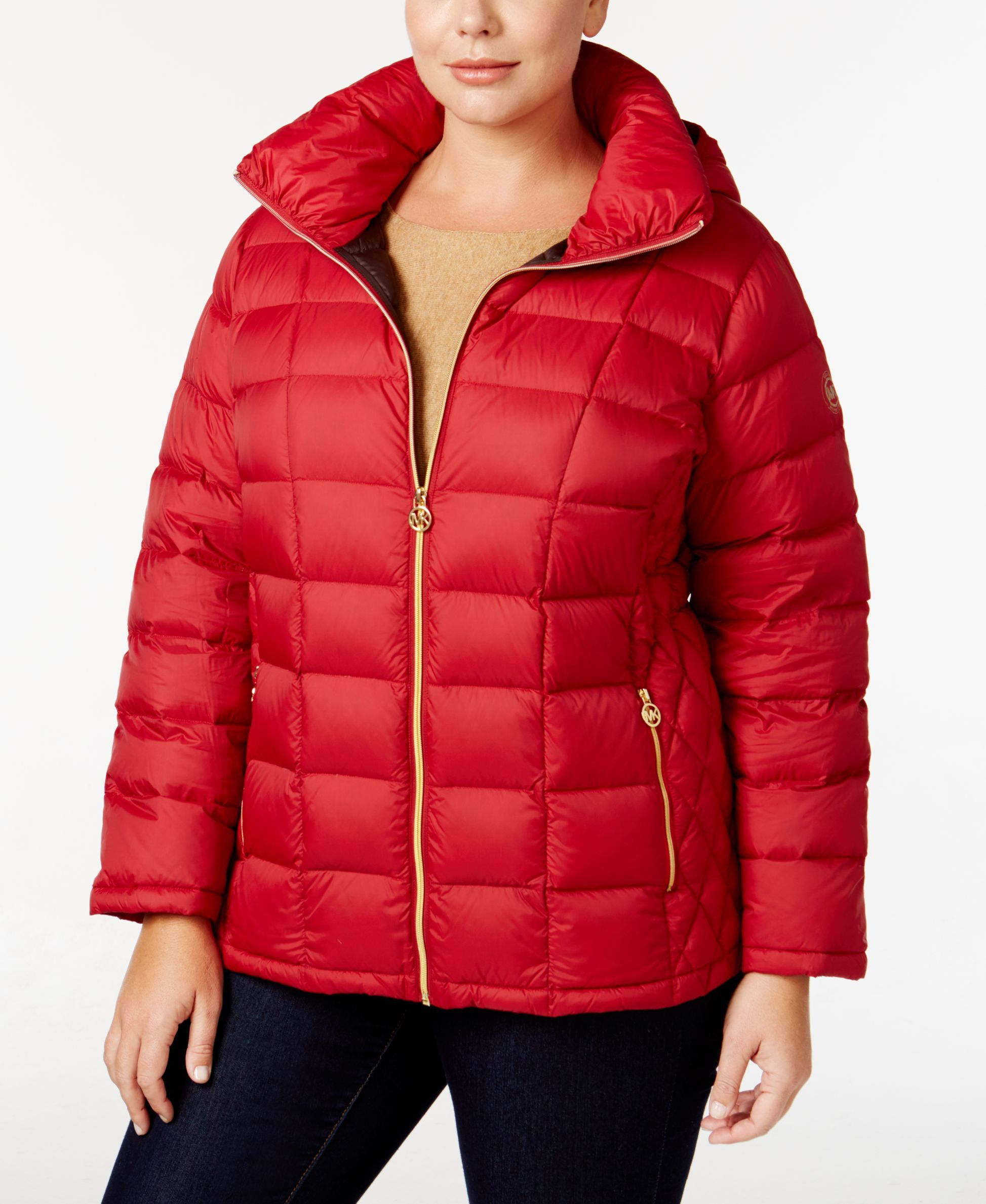 70294307c Michael Michael Kors Plus Size Hooded Packable Down Puffer Coat ...
