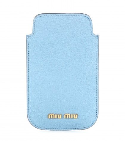 #miumiu - leather iPhone 5 case