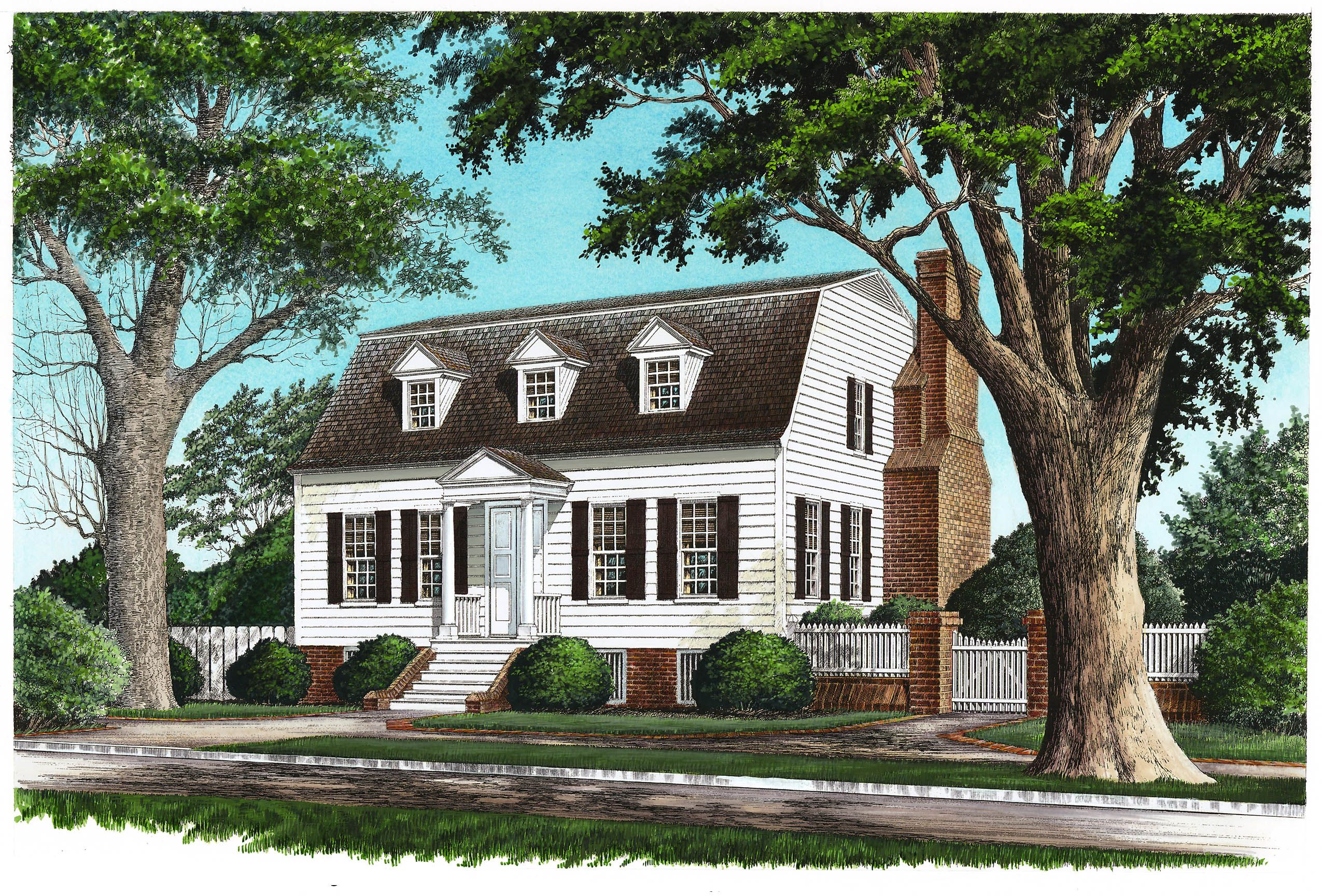 Plan 32457wp Gambrel With Secluded Master Suite Colonial House