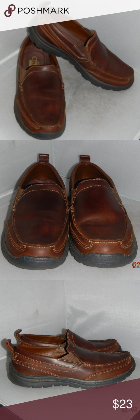 b6fd3ac7e1912e Skechers Superior Gains Slip-On Loafers Mens 10.5M Skechers Superior-Gain  Slip-on Loafers Brown leather, Mens size 10.5 Medium Dual side elastic  fabric ...
