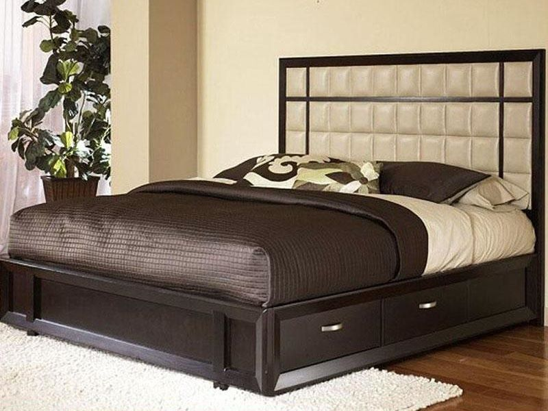 Latest Wooden Bed Designs 2016 Amusing Wooden Bed Design With