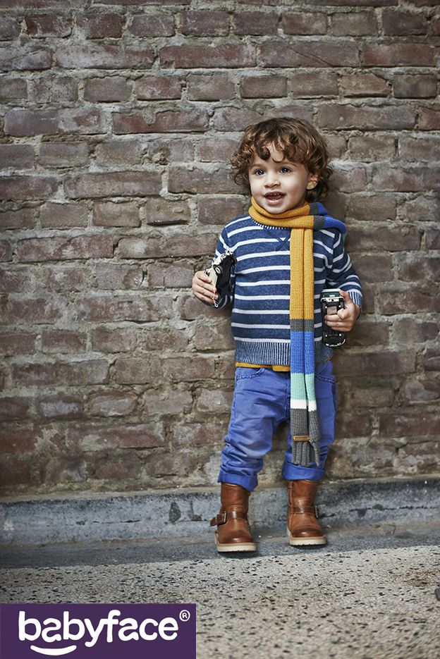 Babyface Toddler BOYS winter 2015 collection. In stores from August 2015. Pullover, pants and scarf.