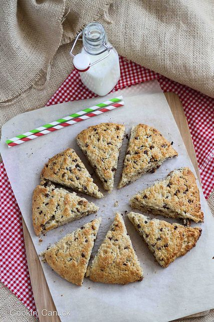 Paleo Recipes - Healthy(er) Scones Recipe with Chocolate & Crystallized Ginger #recipe #baking.