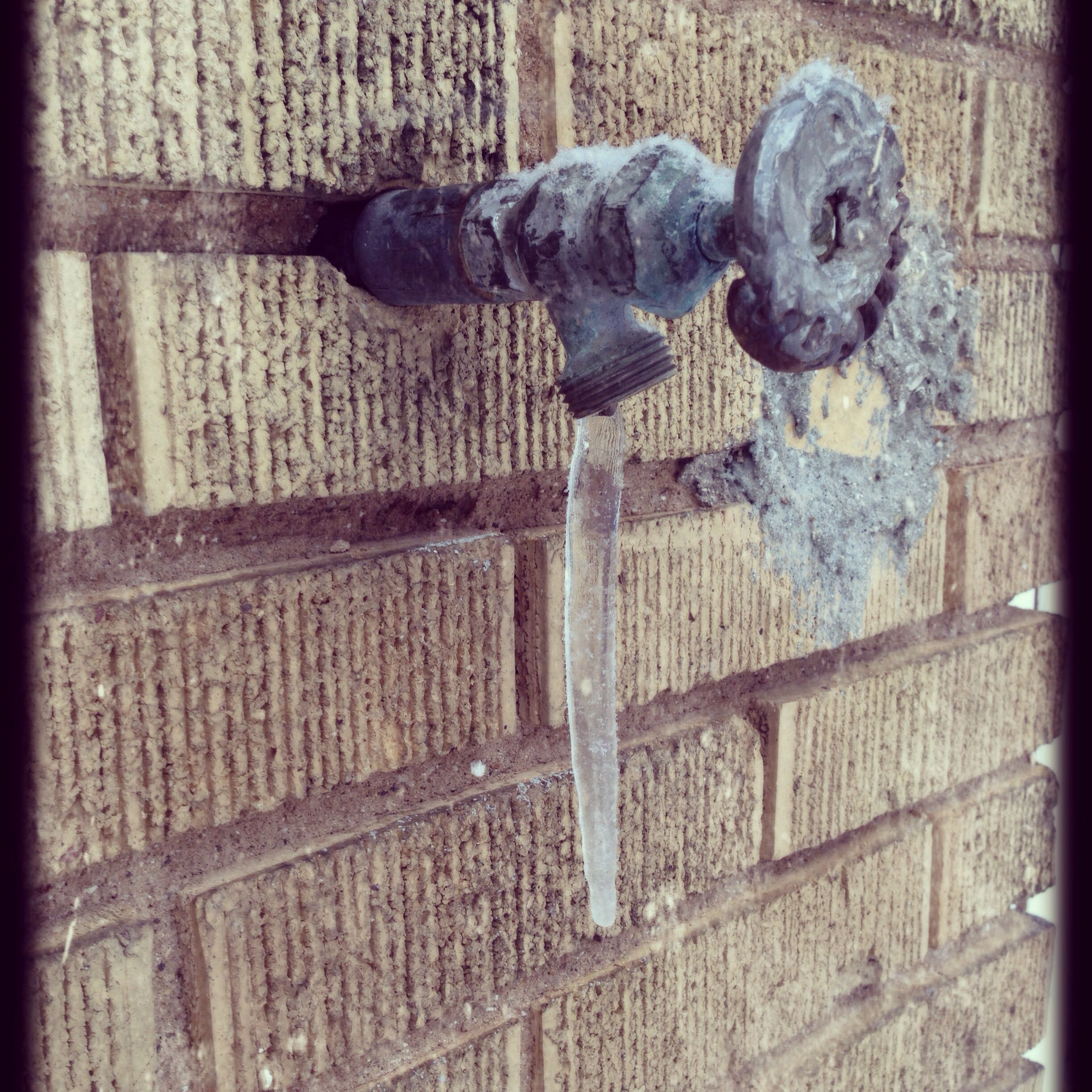 Old water spicket with icicle. ~k gray   The Enchanted Bungalow ...