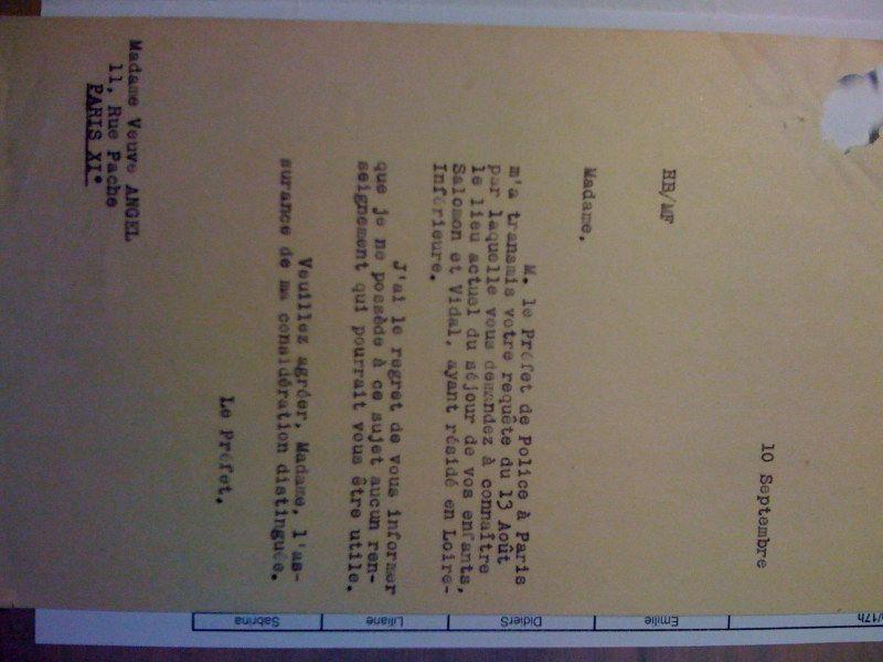 Veuve Angel 10 septembre 1942