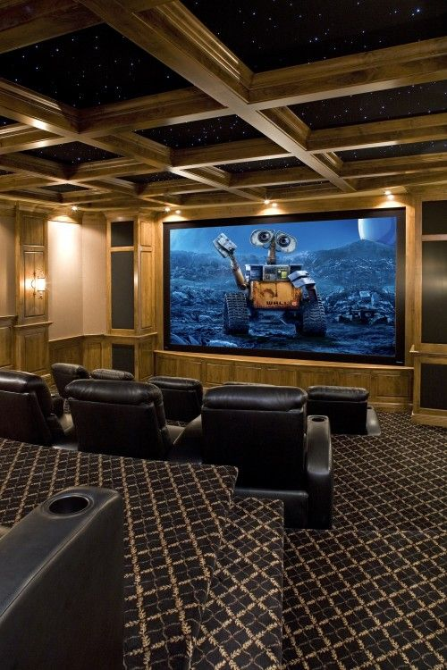 Idea For Theater Room Ceiling And More Levels Seating